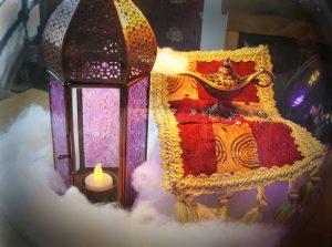 Aladdin Disney themed wedding decorations